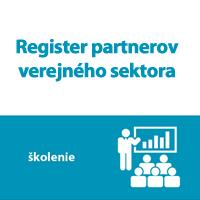Školenie: Register partnerov verejného sektora