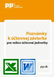 Poznámky k účtovnej závierke pre mikro účtovné jednotky
