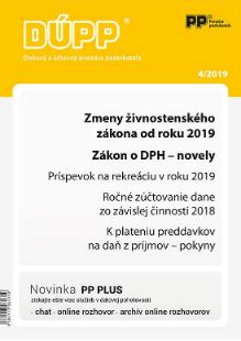 Daňový a účtovný poradca podnikateľa 4/2019