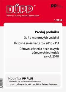 Daňový a účtovný poradca podnikateľa 1/2019